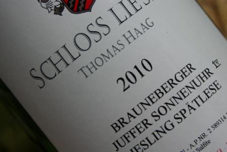 2010 Brauneberger JUFFER SONNENUHR Riesling Spätlese