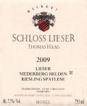2009 Lieser NIEDERBERG HELDEN Riesling Spätlese
