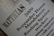 2009 Bopparder Hamm Mandelstein Spätlese trocken