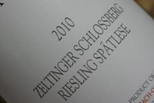 2010 Zeltinger Schlossberg Riesling Spätlese