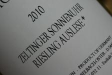 2010 Zeltinger Sonnenuhr Riesling Auslese*