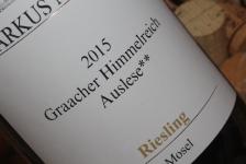 2015 Graacher Himmelreich Auslese**