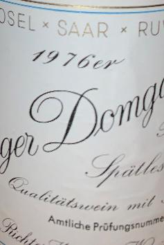 Weingut Richard Richter Riesling Spätlese Winninger Domgarten 1976